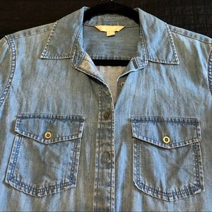 Banana Republic button up denim shirt.